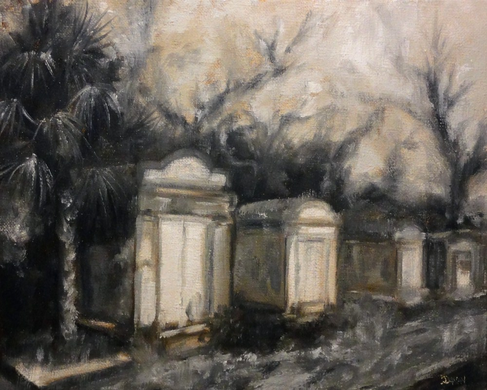 """Old New Orleans Graveyard Monochromatic"" original fine art by Dalan Wells"