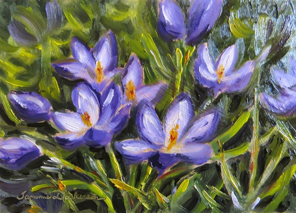 """First Blooms of March"" original fine art by Tammie Dickerson"