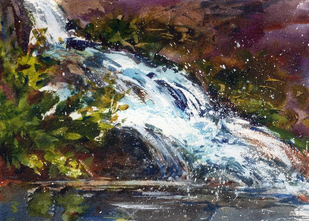 """""""The Forest Pool"""" original fine art by Linda Henry"""