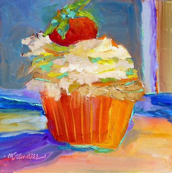 """Carmel Cupcake 13038"" original fine art by Nancy Standlee"