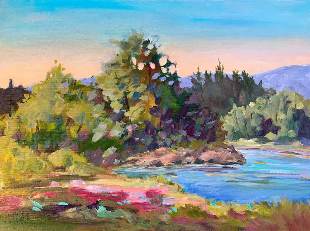"""Morning at the River"" original fine art by Melissa Gannon"