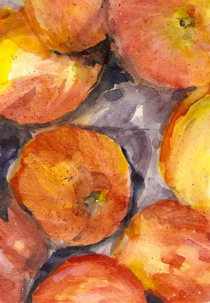 """Pinata Apples"" original fine art by Jean Krueger"