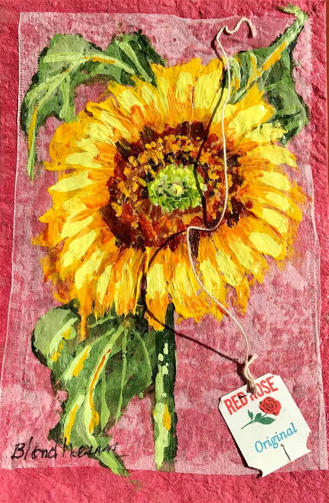 """""""Sunflower Blossom"""" original fine art by Linda Blondheim"""