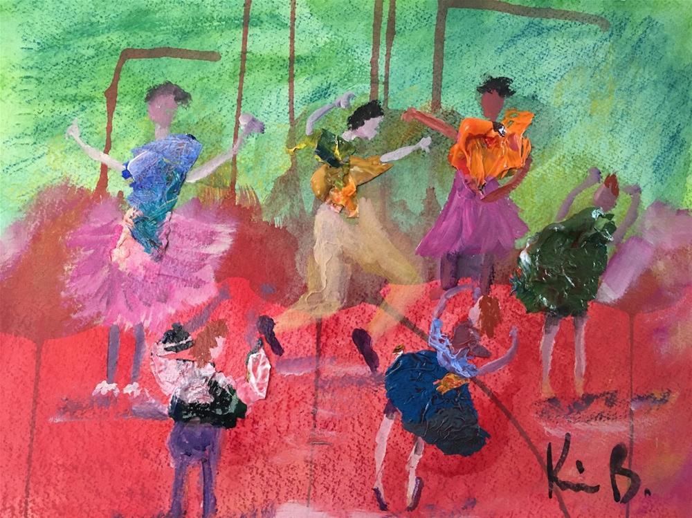 """Dancers"" original fine art by Kimberly Balentine"