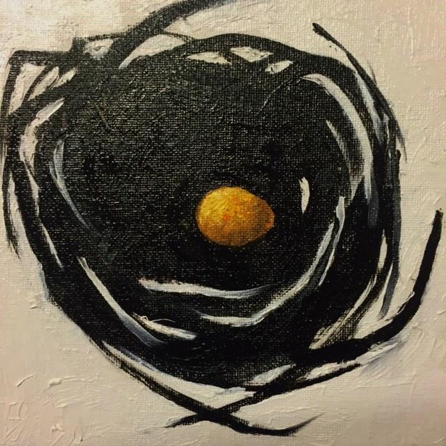 """""""Bird Nest, Day 9"""" original fine art by Connie Snipes"""
