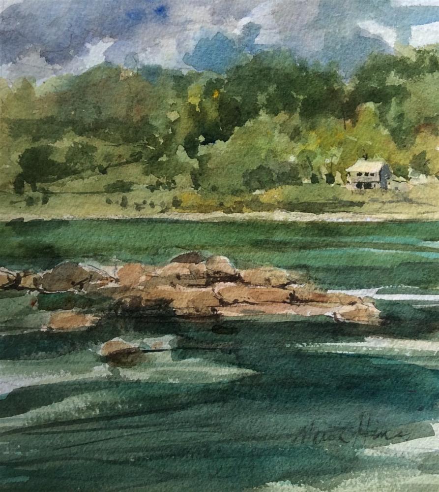 """Low Water Levels"" original fine art by Marita Hines"