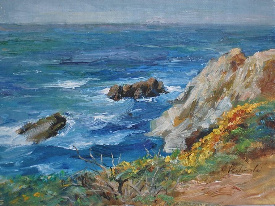 """""""Point Reyes"""" original fine art by Kelvin Lei"""