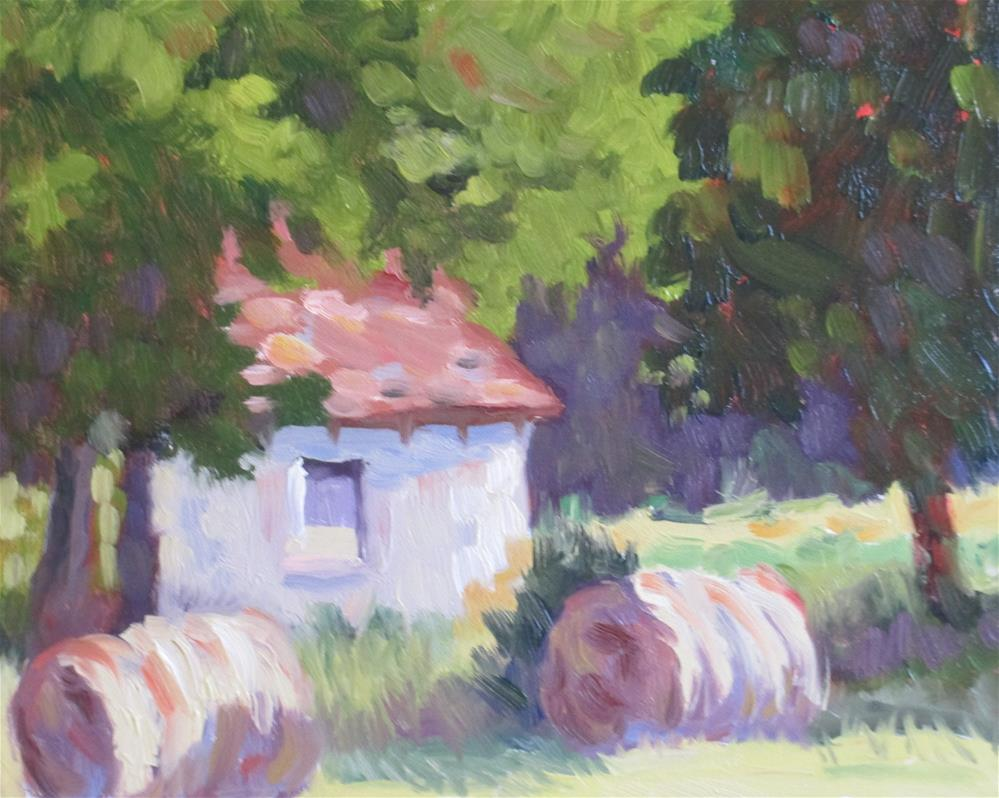 """Hay There!"" original fine art by Judy Elias"