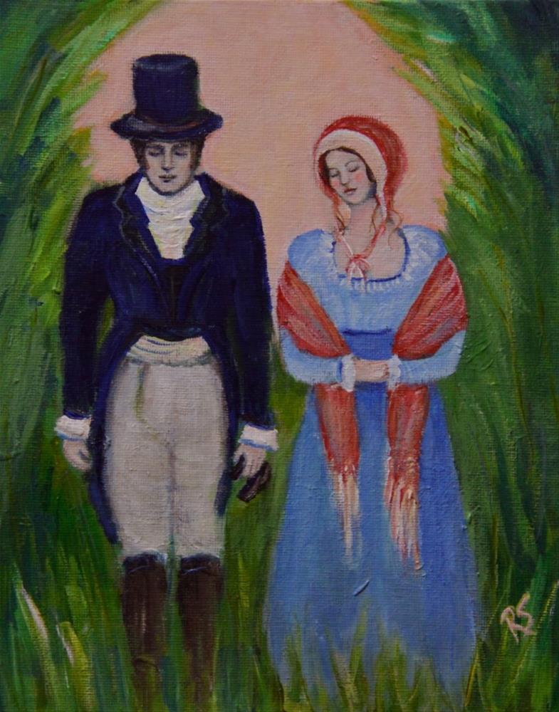 """The Proposal"" original fine art by Roberta Schmidt ArtcyLucy"