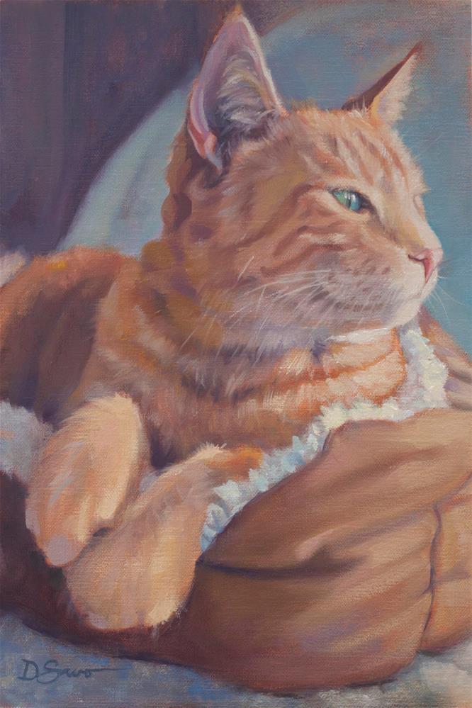 """Johnny Cat"" original fine art by Deborah Savo"