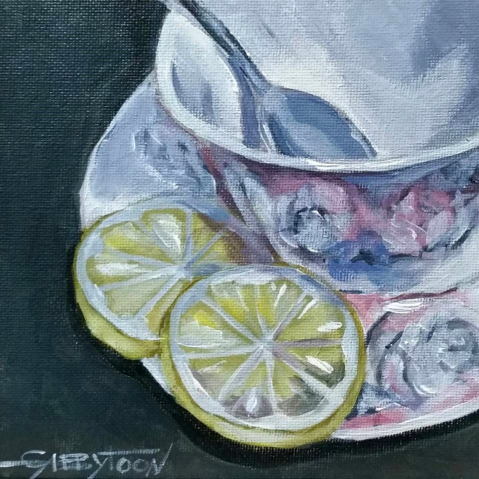 """Waiting For The Tea."" original fine art by Gabriella DeLamater"