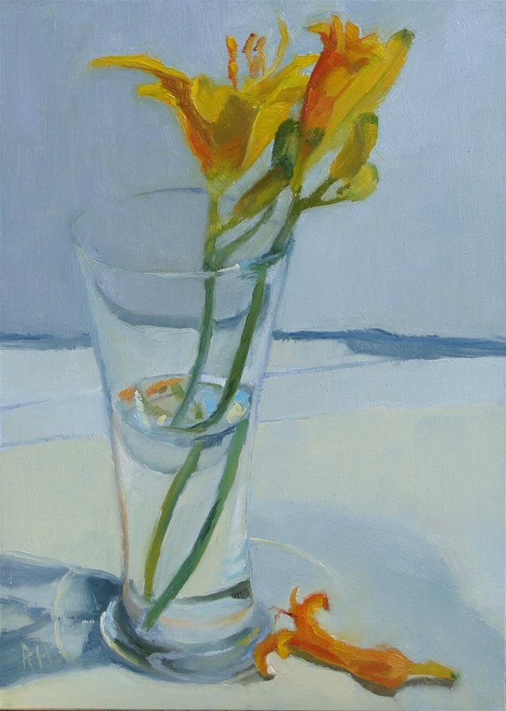 """Up Next - Daylillies"" original fine art by Rebecca Helton"