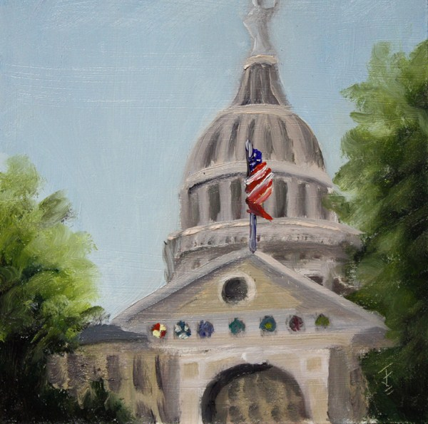 """A Capitol View"" original fine art by Jane Frederick"