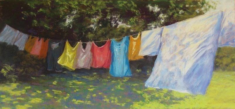 """Wash Day!"" original fine art by Ruth Mann"