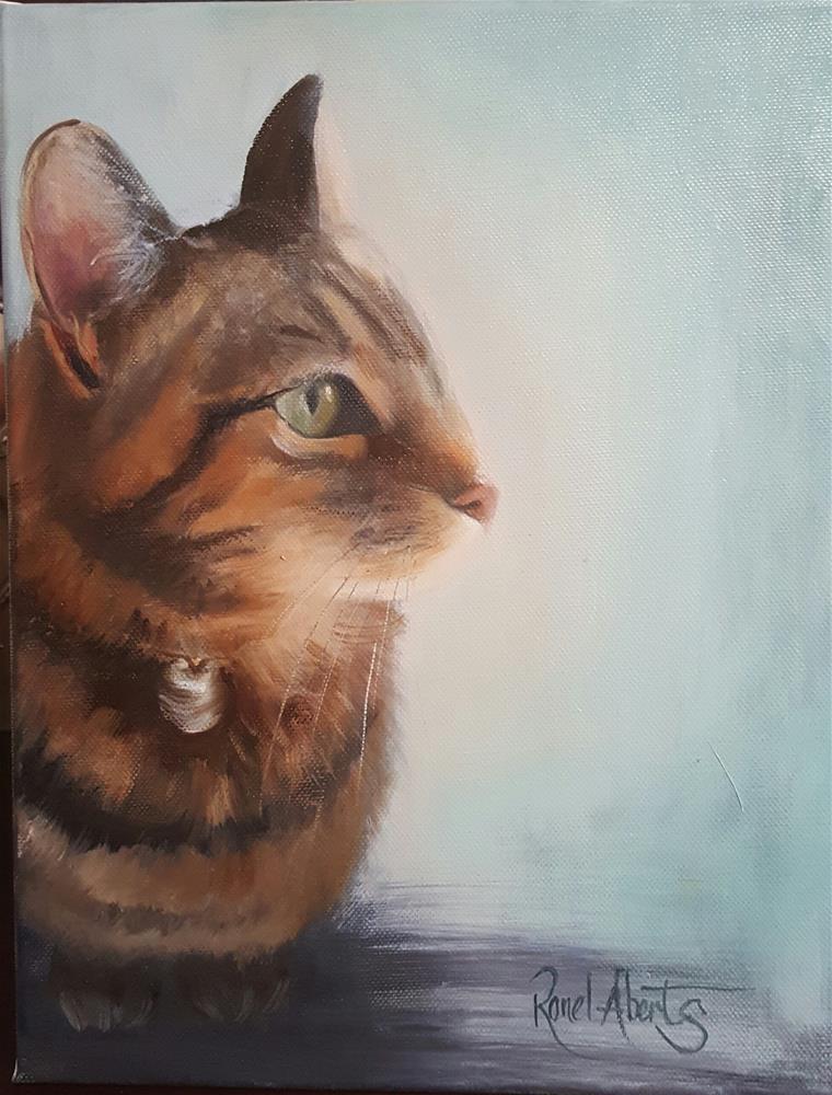 """KITTY -CAT"" original fine art by Ronel Alberts"