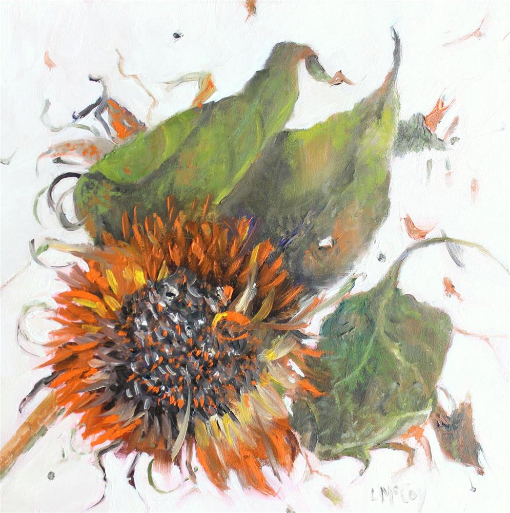 """Laid Out to Dry, Sunflower"" original fine art by Linda McCoy"