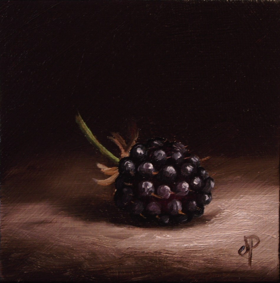 """Little Blackberry"" original fine art by Jane Palmer"