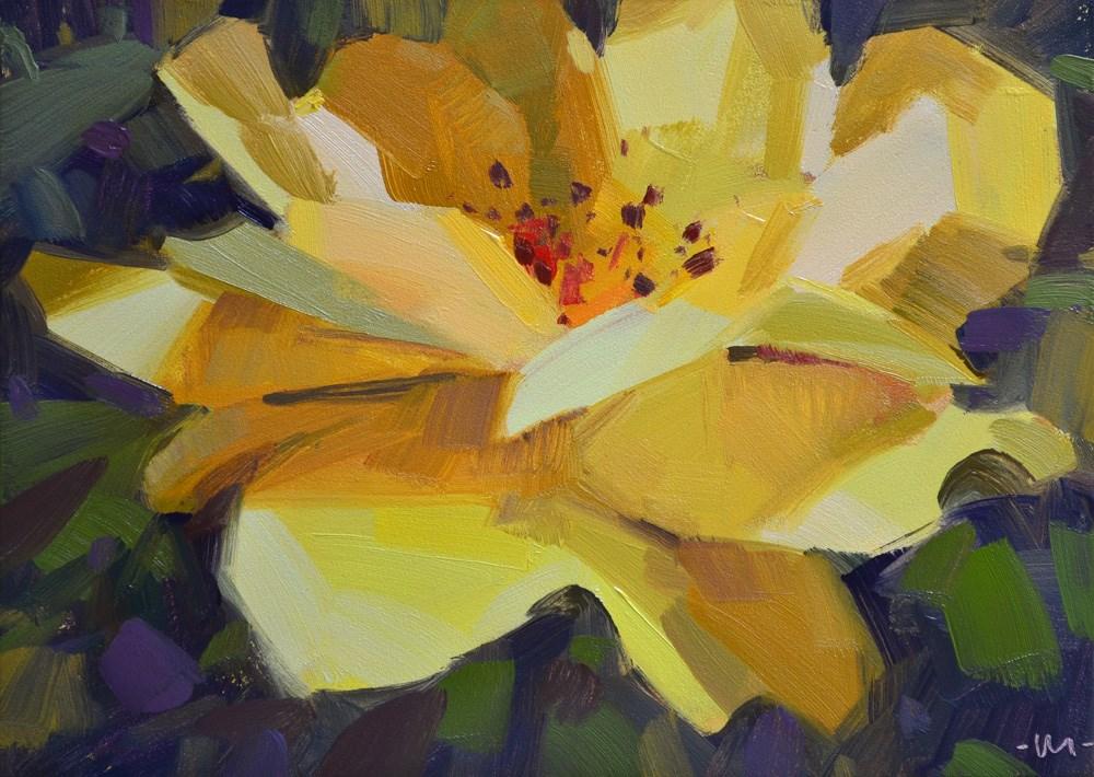 """""""Reclusive Rose"""" original fine art by Carol Marine"""