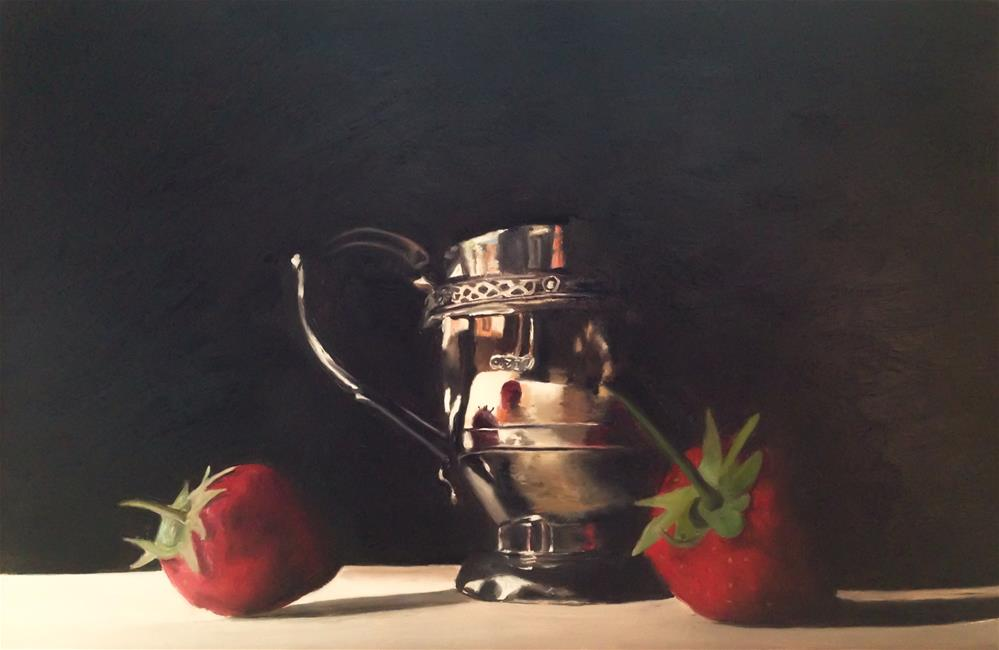 """""""Silver and Strawberries"""" original fine art by James Coates"""
