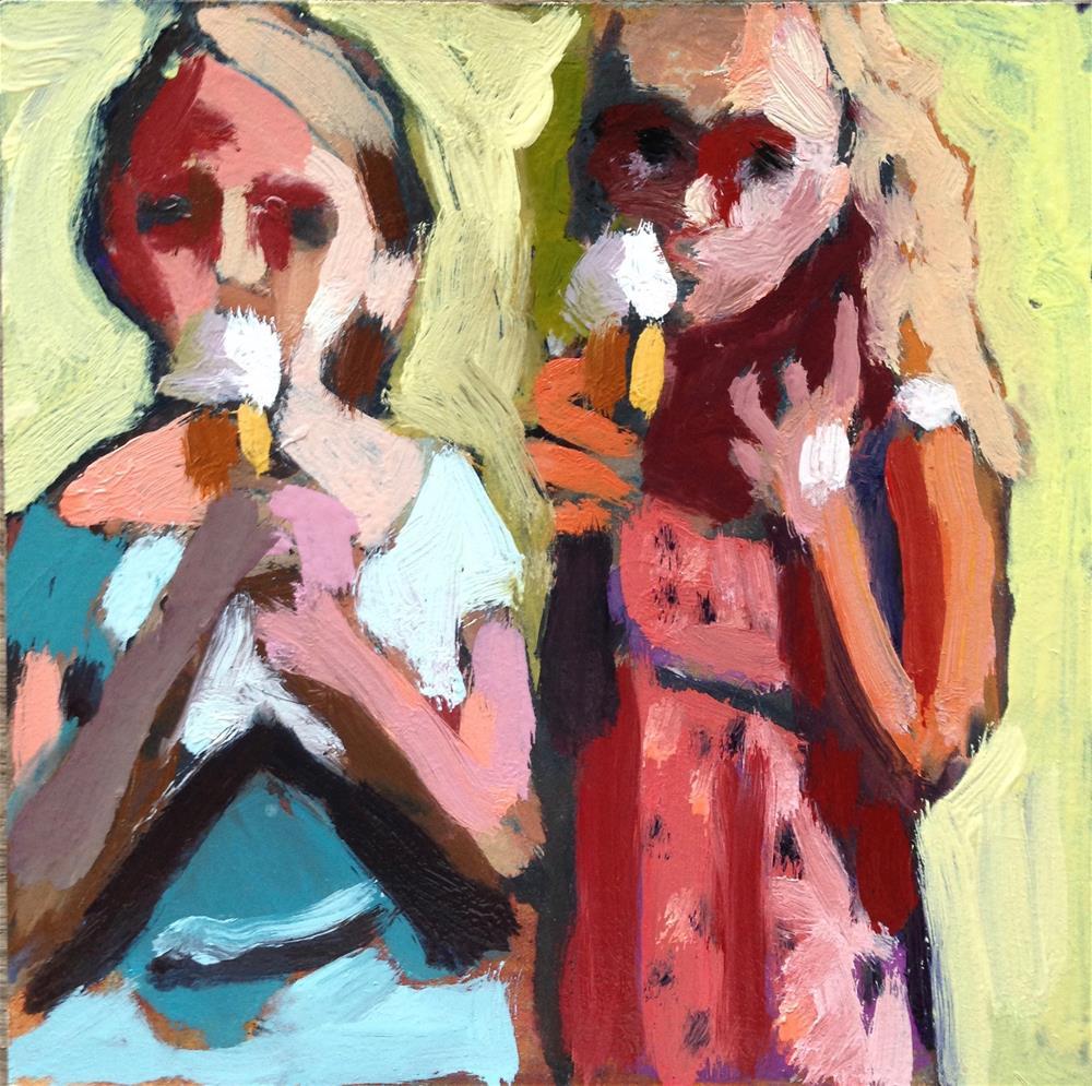 """They Are Still Eating Ice Cream"" original fine art by Pamela Hoffmeister"