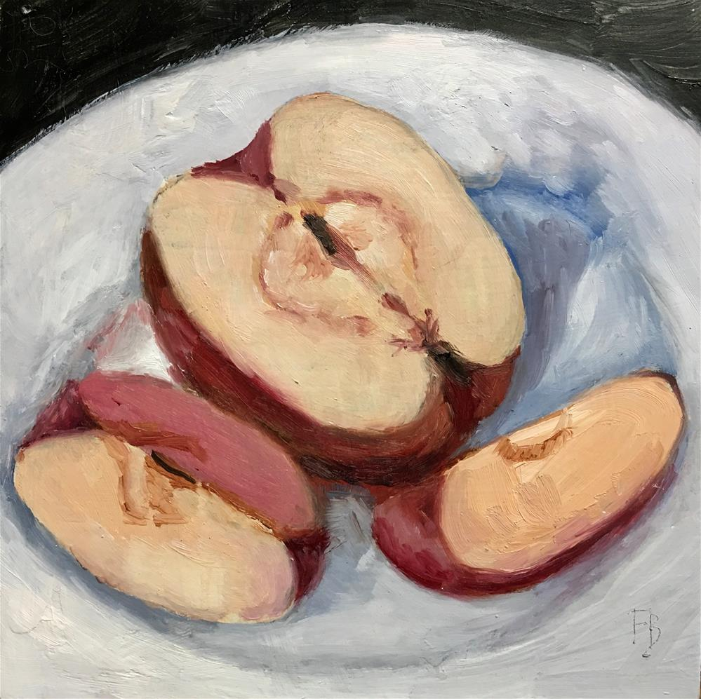 """243 Split Apples"" original fine art by Fred Bell"