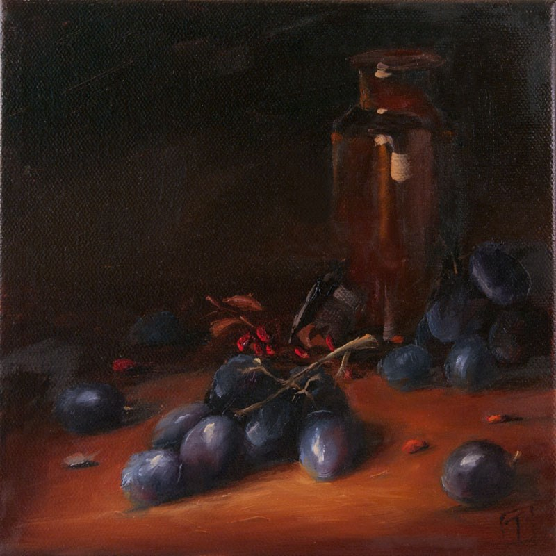 """Grapes of Wrath"" original fine art by Lori Twiggs"