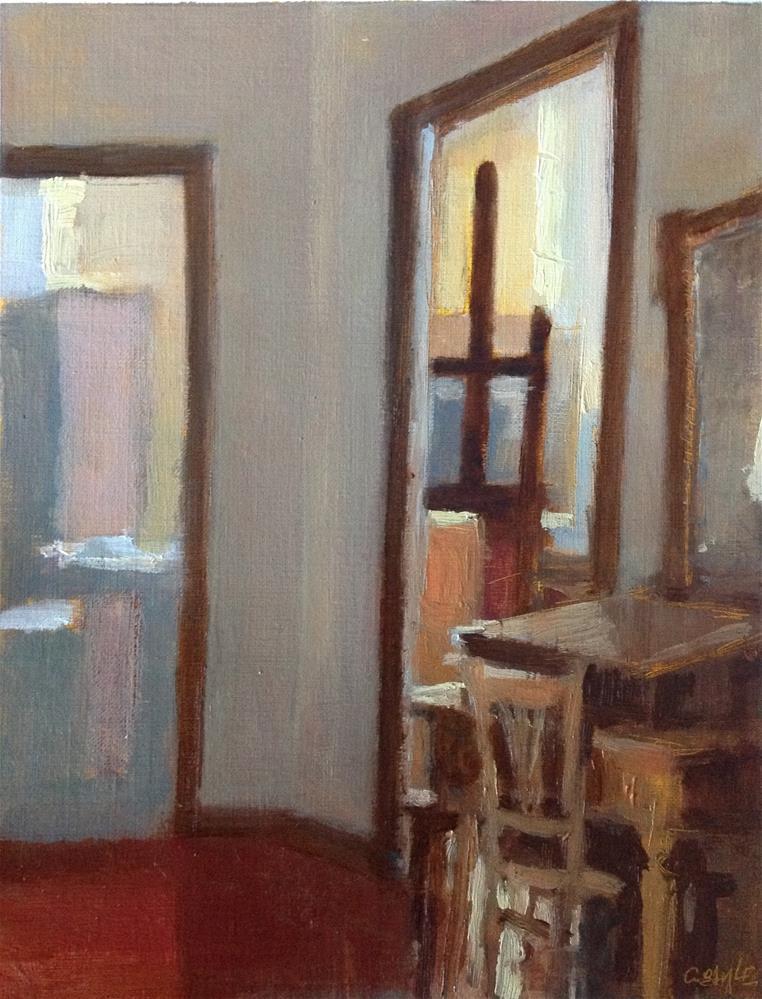 """Interior"" original fine art by Christine Bayle"
