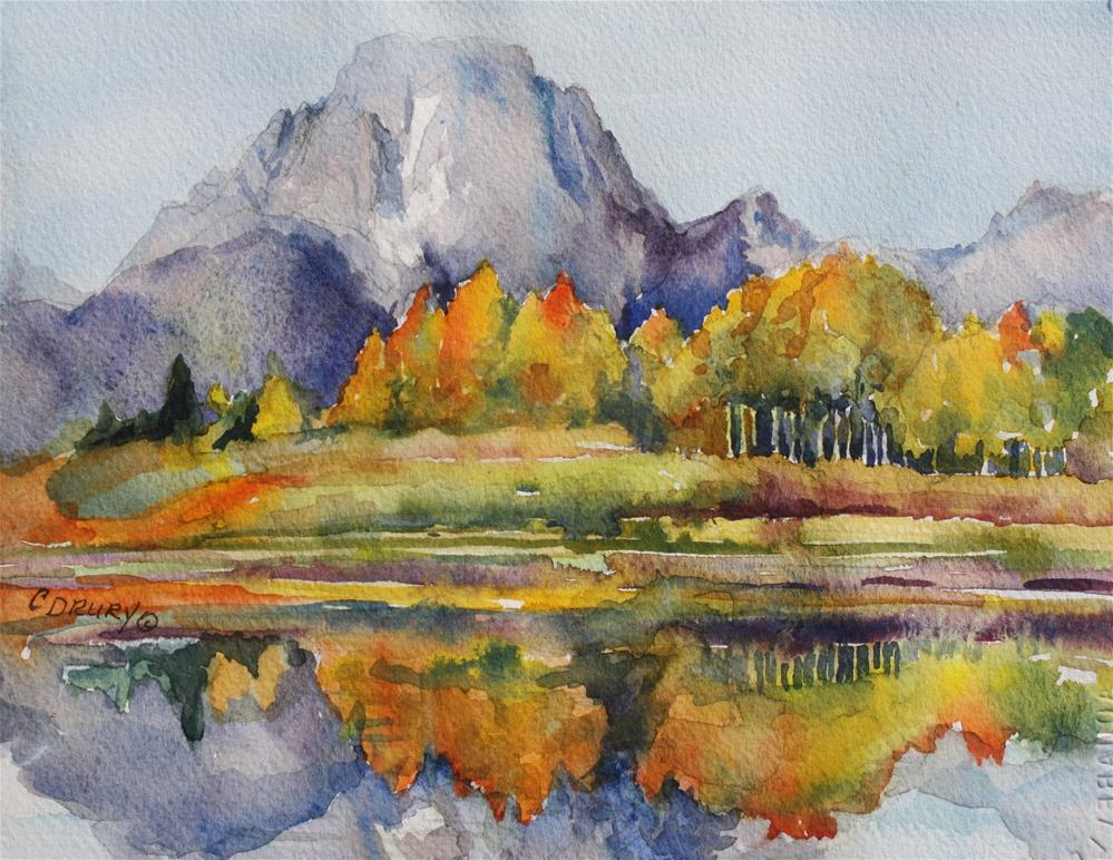 """Mount Moran"" original fine art by Colleen Drury"