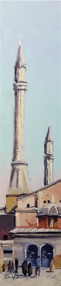 """Istanbul, Sultanahmet Square"" original fine art by Karen Weber"