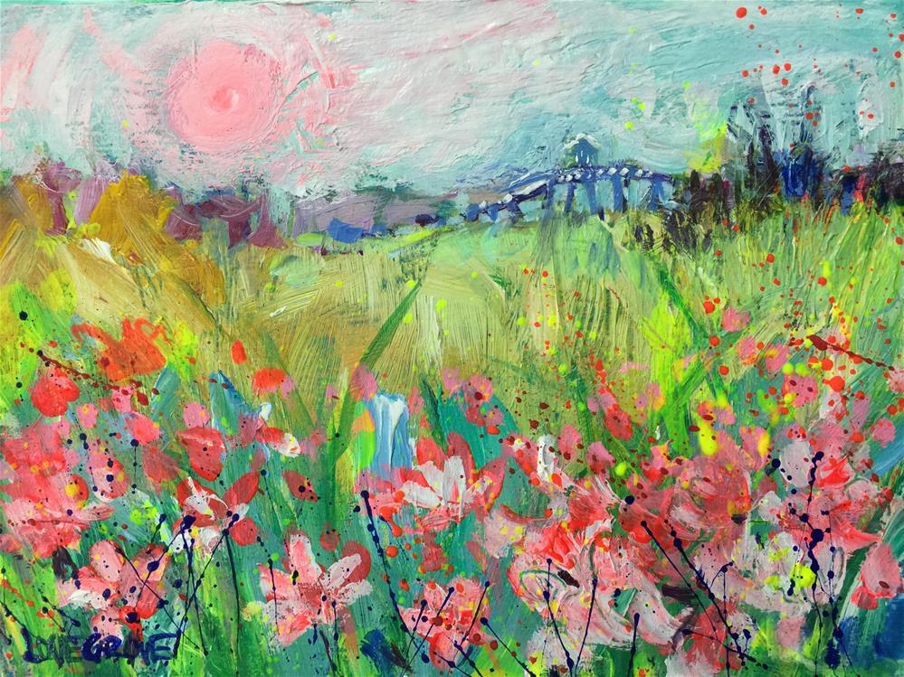 """Lilies of My Valley"" original fine art by Leoma Lovegrove"
