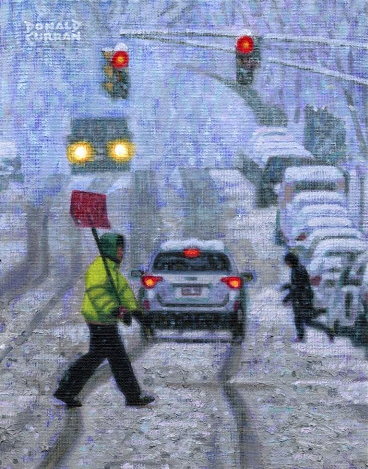 """Snow Storm"" original fine art by Donald Curran"