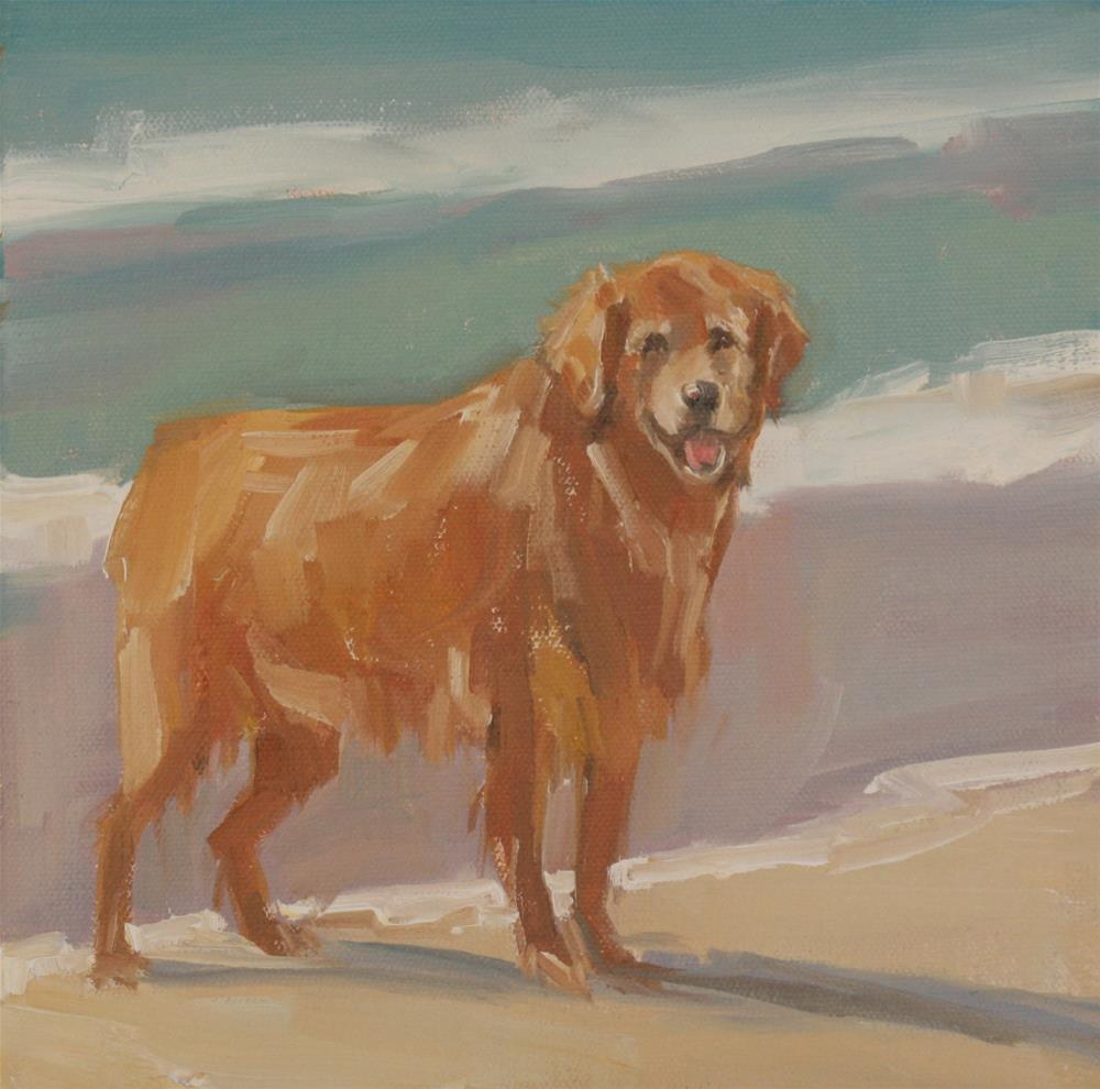 """leia's happy place"" original fine art by Carol Carmichael"
