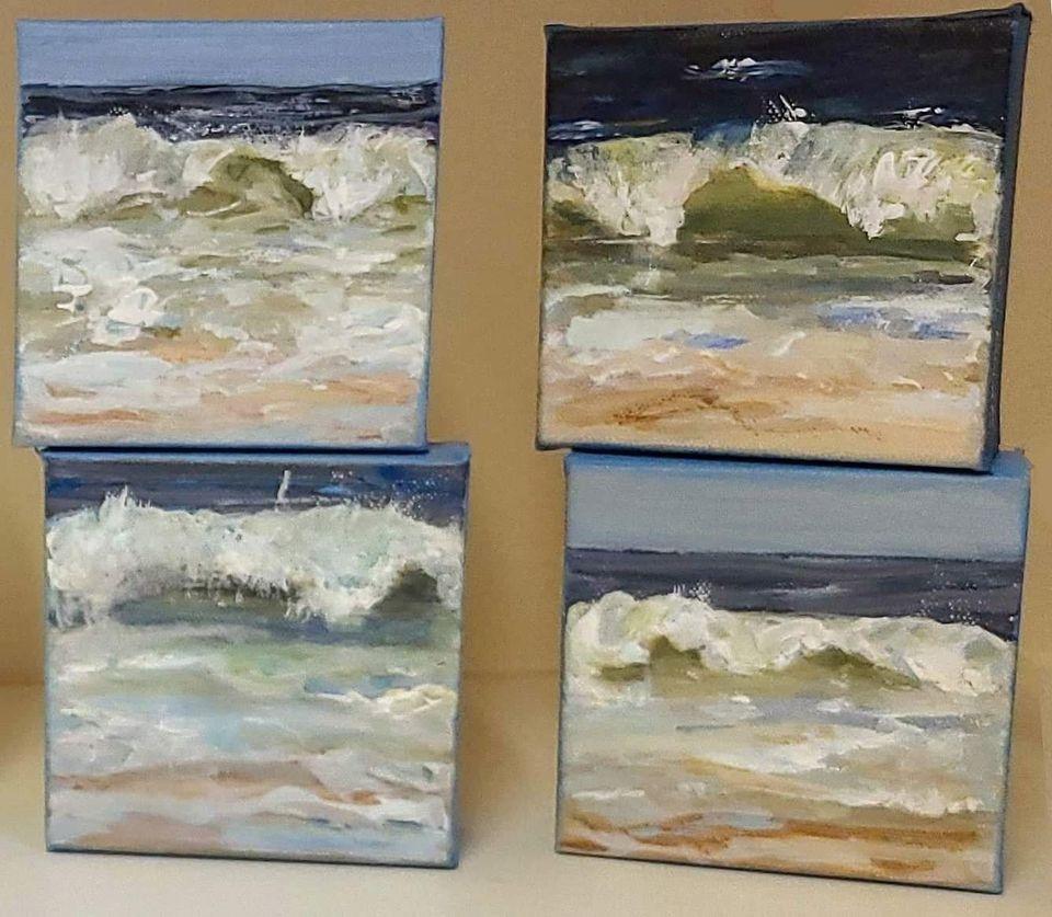"""""""Waves"""" original fine art by Sunny Avocado"""