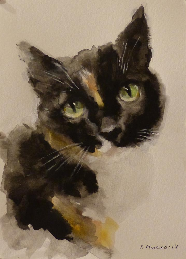 """Molly"" original fine art by Katya Minkina"