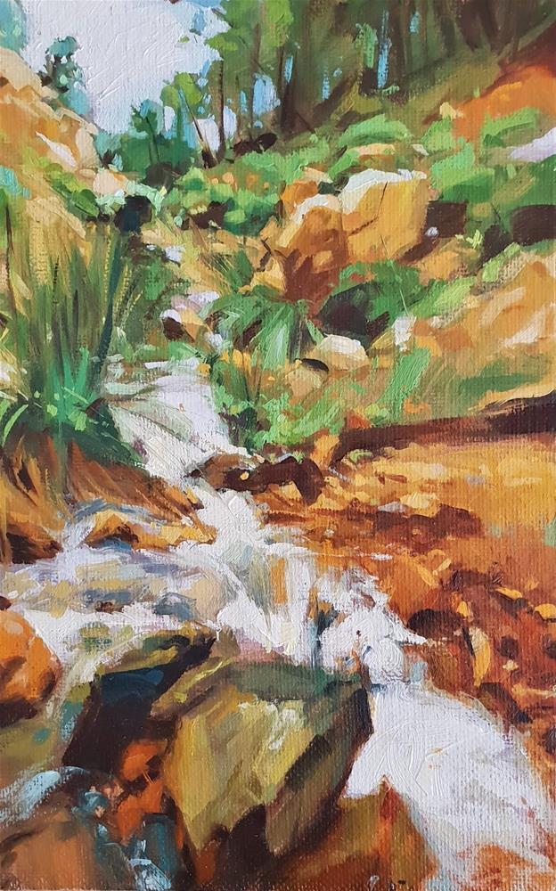 """Waterfalls of Ronda"" original fine art by Víctor Tristante"