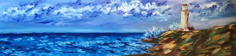 """""""Lighthouse"""" original fine art by Hoda Nicholas"""