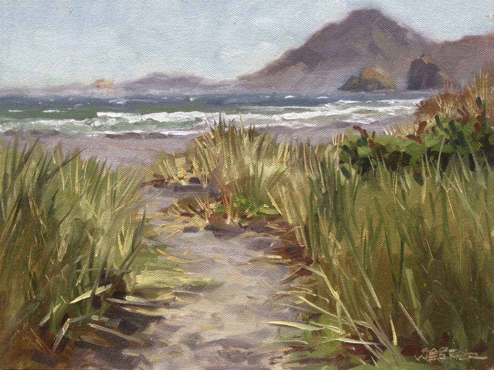 """""""Oregon Shore"""" original fine art by Karen Werner"""