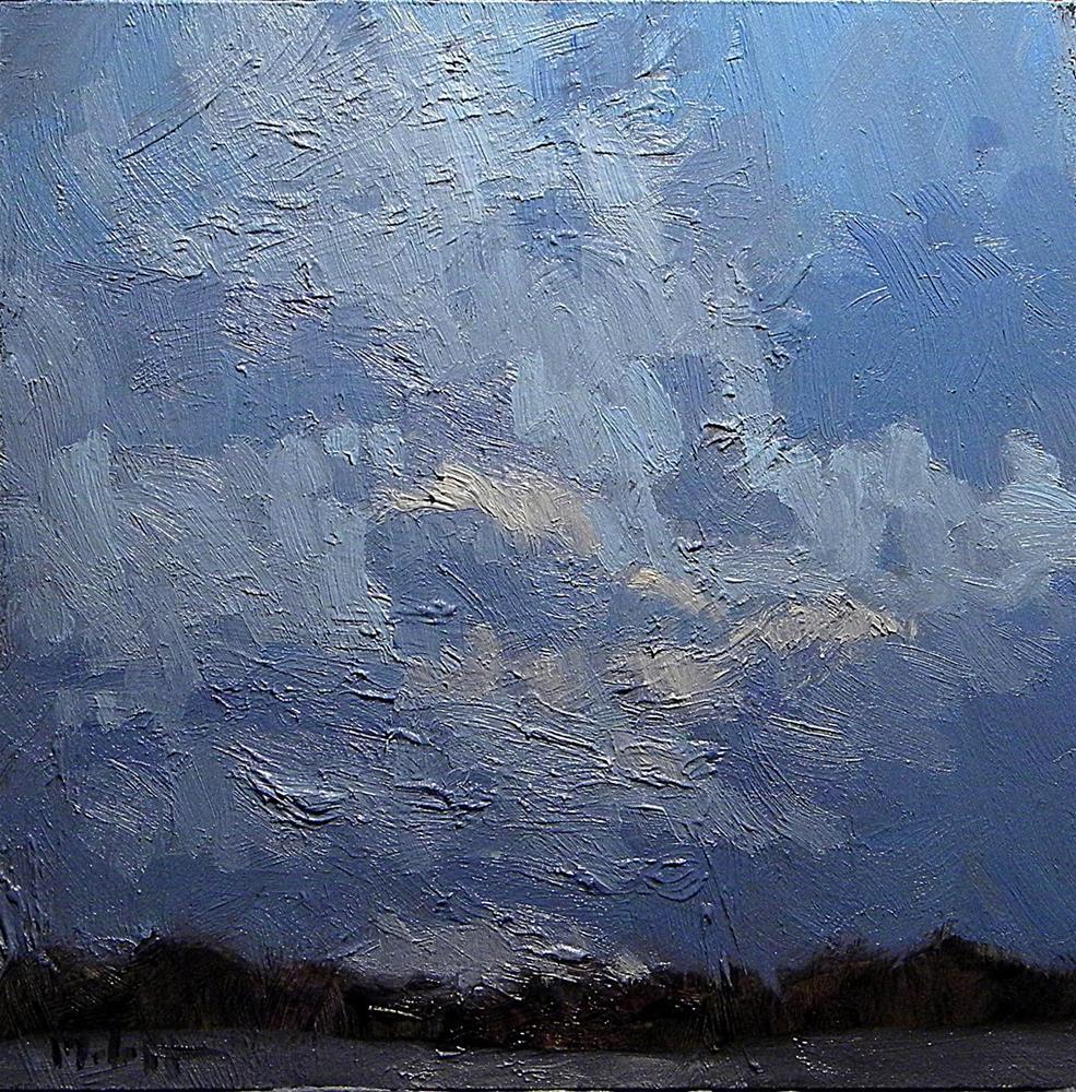 """Light of the Moon Nocturne Lake Oil Painting"" original fine art by Heidi Malott"