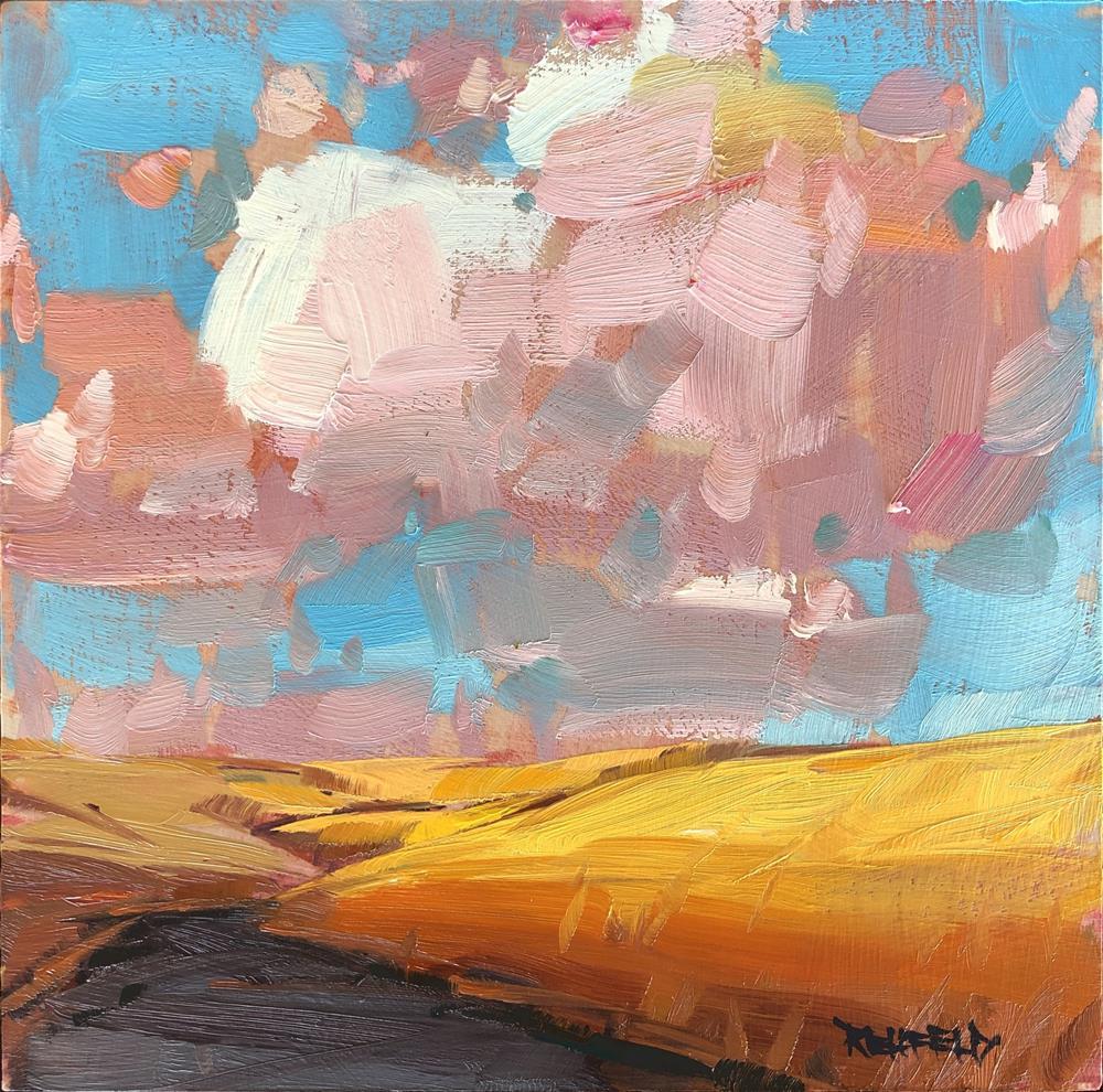 """Wheat Country"" original fine art by Cathleen Rehfeld"