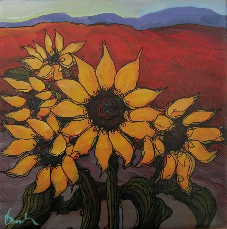 """""""WARM SUNS"""" original fine art by Dee Sanchez"""