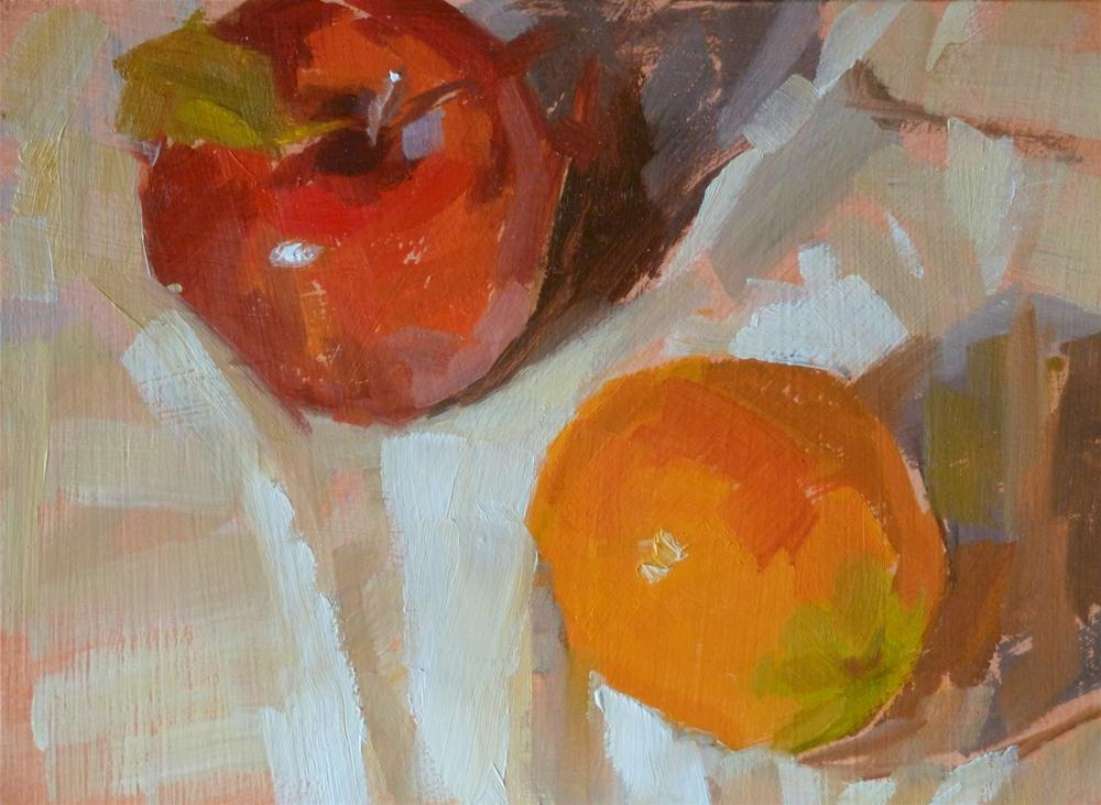 """""""Just Like Apples and Oranges"""" original fine art by Ron Ferkol"""