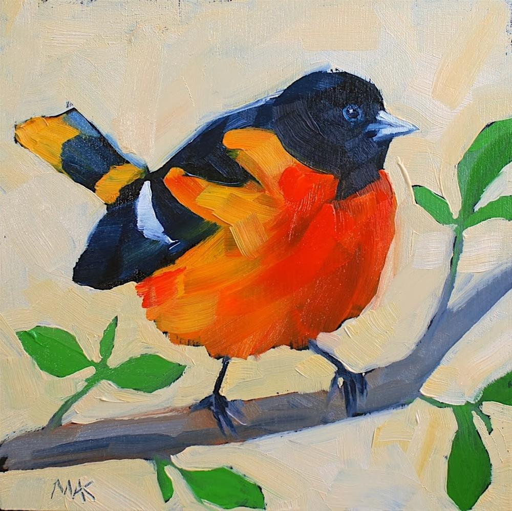 """""""Baltimore Oriole"""" original fine art by Mary Anne Cary"""