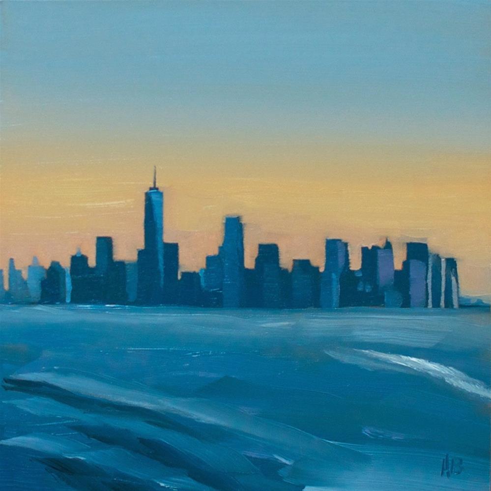 """NYC Skyline"" original fine art by Heather Bullach"