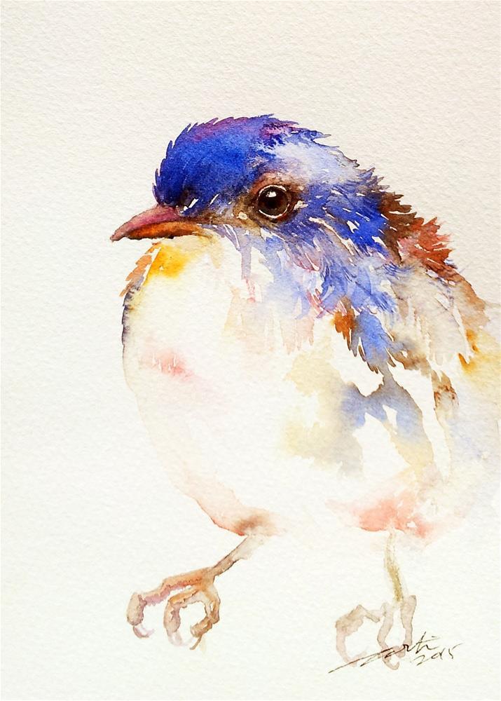 """""""Birdie"""" original fine art by Arti Chauhan"""
