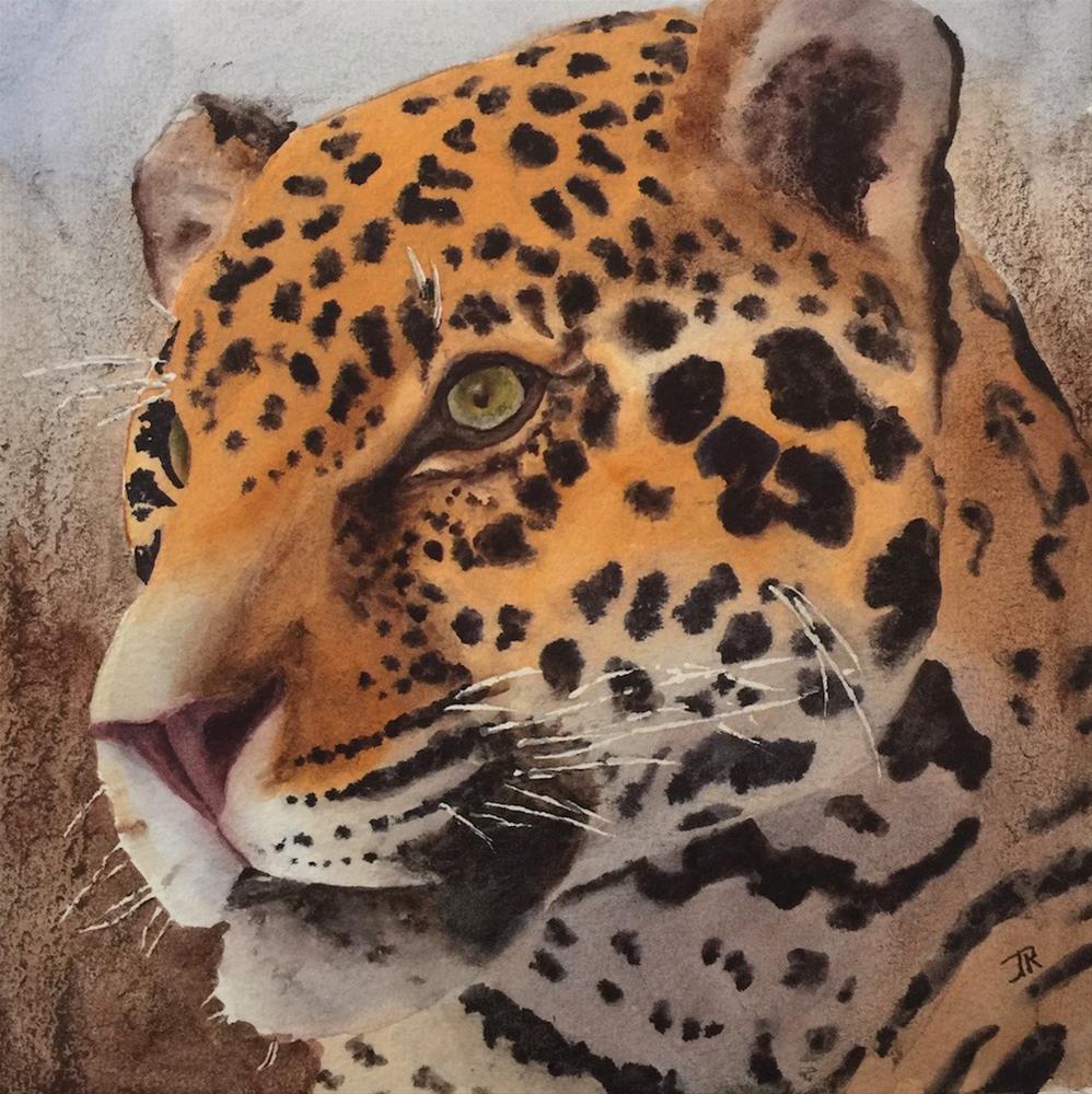 """Jaguar"" original fine art by June Rollins"