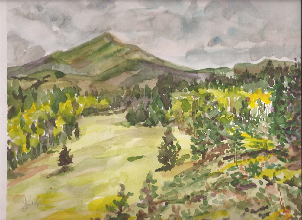 """Horn Peak, Sangres de Cristo Nat'l Forest, Colorado"" original fine art by Jean Krueger"
