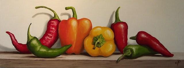 """Mixed Peppers"" original fine art by Jane Palmer"
