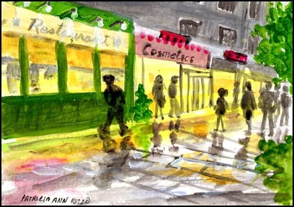 """""""City Street"""" original fine art by Patricia Ann Rizzo"""