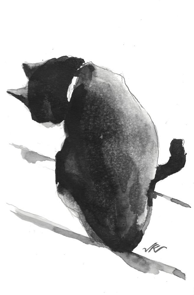 """Daily Cat 106"" original fine art by Jean Krueger"