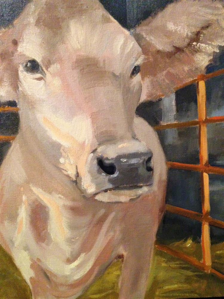 """Morning cow"" original fine art by Patty Voje"